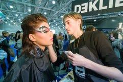 Make-up en haar de kunstenaarsconcurrentie Royalty-vrije Stock Afbeeldingen