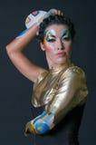 Make-up en haar de kunstenaarsconcurrentie Stock Afbeelding