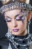 Make-up en haar de kunstenaarsconcurrentie Stock Afbeeldingen