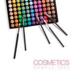 Make-up en kosmetische borstels Royalty-vrije Stock Afbeelding