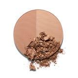 Make up esmagou o pó bicolor Imagens de Stock