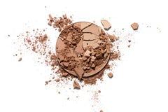 Make up esmagou o pó bicolor Fotografia de Stock Royalty Free