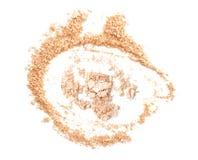 Make up esmagou o pó no fundo branco Imagem de Stock Royalty Free