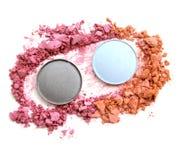 Make up esmagou o pó para o fundo Foto de Stock Royalty Free
