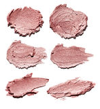 Make up esmagou a sombra dourada Fotos de Stock