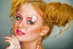 Make up for evening-party Royalty Free Stock Photo