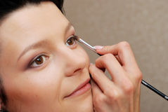 Make-up. Eye shadow Stock Image