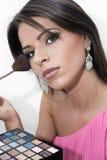 Make-up. Eye shadow brush Stock Image