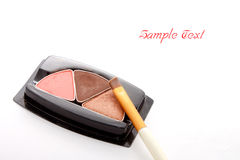 Make up eye shadow and make up brush Royalty Free Stock Photos