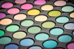 Make-up eye shadows Royalty Free Stock Photos