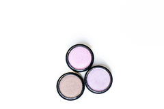 Make-up eye shadows. View from above. Royalty Free Stock Photo