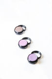 Make-up eye shadows. View from above. Royalty Free Stock Photography