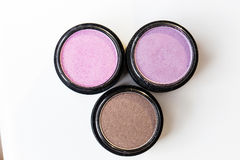 Make-up eye shadows. View from above. Stock Photos