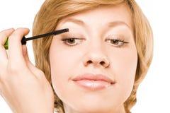Make-up. eyelashes. studio. white Royalty Free Stock Image