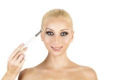 Make-up.Eyes shadows Stock Photography