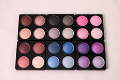 Make-up eyeshadows Royalty Free Stock Photos