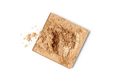 Make-up face powder. Face powder color sample - make-up for fashion and beauty magazines stock photos
