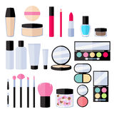 Make-up flat icons set. Royalty Free Stock Image