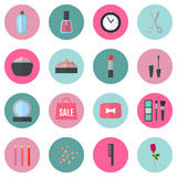 Make up flat icons. Vector illustration Royalty Free Stock Photo