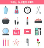 Make up flat icons. Vector illustration Stock Photography