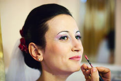 Make-up For The Bride Stock Images