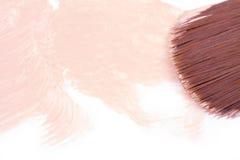 Make-up foundation with brush Stock Image