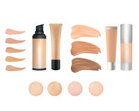 Make up foundation palette. Vector illustration Royalty Free Stock Photos