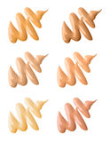 Make-up Foundation Swatches Royalty Free Stock Photos