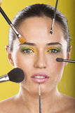 Make up and Full beauty treatment Stock Images