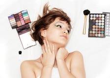 Make-up girl Royalty Free Stock Image