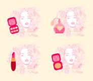 Make-up girl - poster set Stock Images