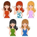 Make up girls set Royalty Free Stock Images