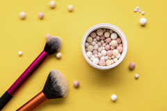 Make up glamour powder stock photos