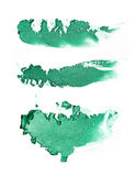 Make up ha schiacciato l'ombretto verde Fotografie Stock