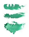 Make up ha schiacciato l'ombretto verde Fotografia Stock Libera da Diritti