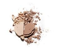 Make up ha schiacciato la polvere Immagine Stock Libera da Diritti