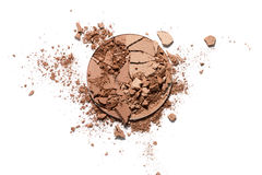Make up ha schiacciato la polvere bicolore Fotografia Stock Libera da Diritti