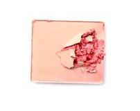 Make up ha schiacciato la polvere su bianco Immagini Stock Libere da Diritti