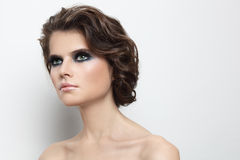 Make-up and hairstyle Stock Photography