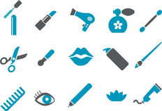 Make-up Icon Set Stock Photos