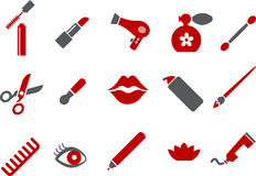 Make-up Icon Set Royalty Free Stock Images
