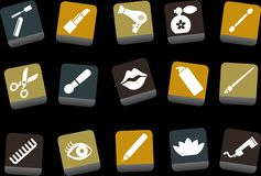 Make-up Icon Set Stock Images