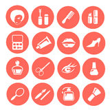 Make up icon set Stock Images