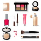 Make-up icon set Royalty Free Stock Photography