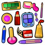 Make up icons Stock Images