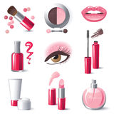 Make-up Icons Royalty Free Stock Photography