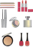 Make up icons set Stock Images