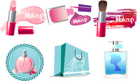 Make-up icons. Vector set for woman royalty free illustration