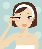 Make-up Illustration royalty free stock images