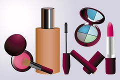 Make-up implements Stock Photos